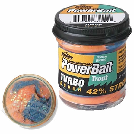 Паста  Berkley  PowerBait Select Glitter Turbo Dough  - Blue Mango