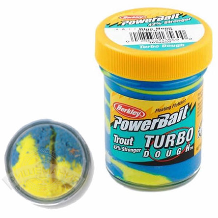Паста  Berkley  PowerBait Select Glitter Turbo Dough  - Blue Neon