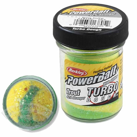 Паста  Berkley  PowerBait Select Glitter Turbo Dough  - Spring Green/Yellow