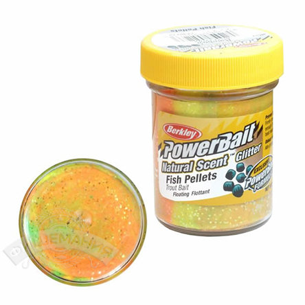 Паста  Berkley  PowerBait Dough Natural Scent Fish Pellet Trout Bait - Raibow