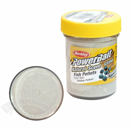 Паста  Berkley  PowerBait Dough Natural Scent Fish Pellet Trout Bait - White