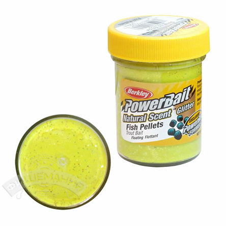 Паста  Berkley  PowerBait Dough Natural Scent Fish Pellet Trout Bait - Sunshine Yellow