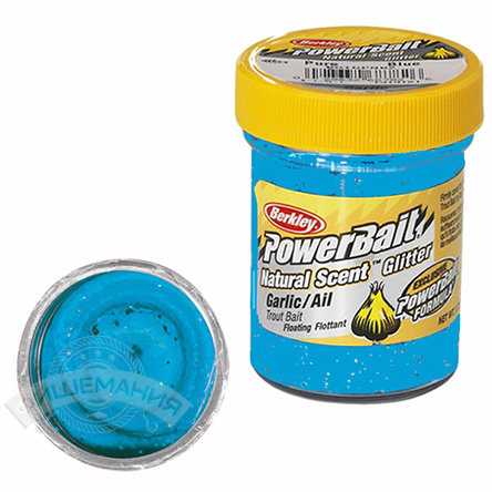 Паста  Berkley  PowerBait Dough Natural Scent Garlic - Blue