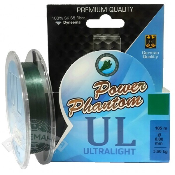 Шнур Power Phantom 6x Ultra Light 105m зеленый