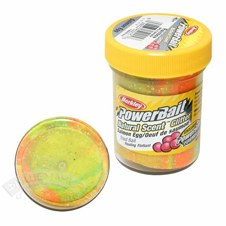 Паста  Berkley  PowerBait Dough natural scent Salmon egg - rainbow