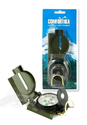 Компас Comfortika металлический c линейкой DC45-2B