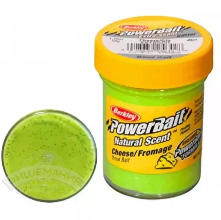 Паста форелевая Berkley PowerBait Natural Scent Cheese Chartreuse 50 gr