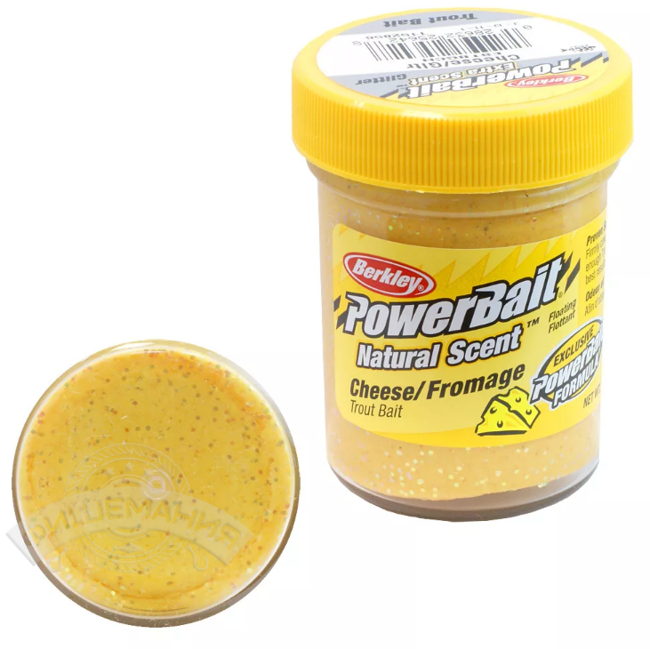 Паста форелевая Berkley PowerBait Natural Scent Cheese Glitter 50 gr