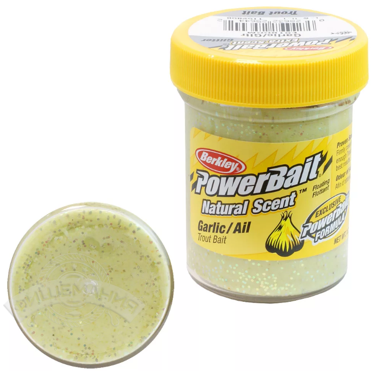 Паста форелевая Berkley PowerBait Natural Scent Garlic Garlic Glitter 50 gr
