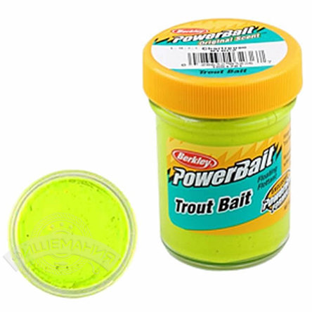Паста  Berkley  PowerBait Biodegradable Trout Bait Chartreuse