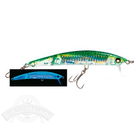 Воблер Yo-Zuri F1051-HGM Crystal 3D Minnow Jointed