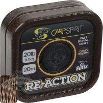 Поводок карповый Carp Spirit REACTION BRAID 20M CAMO BROWN